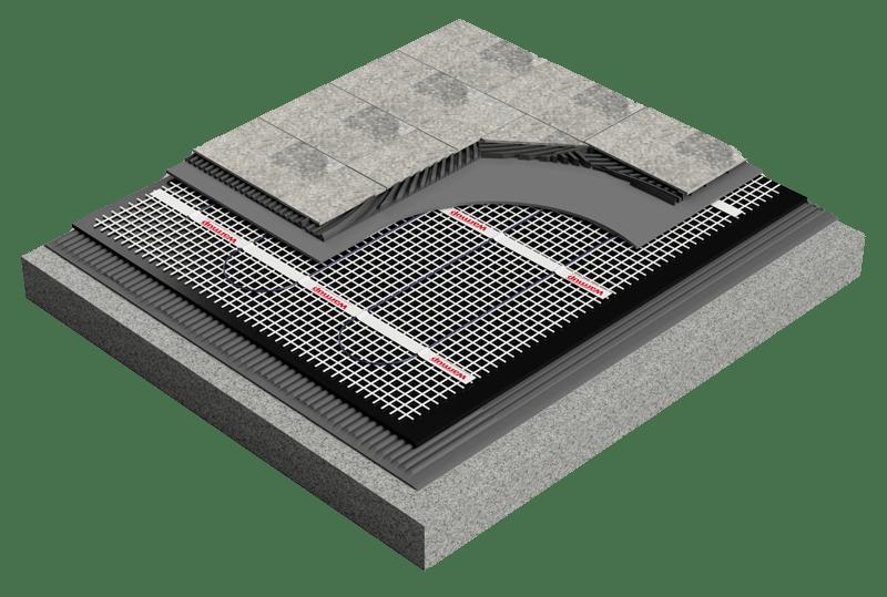 Mostra de aplicación con placas aislantes