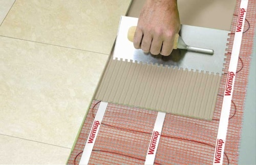 StickyMat heating mat Installation screed
