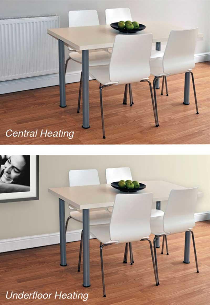 Diferencia en el design de casa con radiadores vs suelo radiante